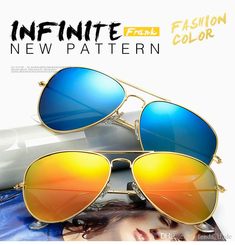 Beach Style HOT classic Designer di marca occhiali da sole polarizzati UV400 occhiali da sole donne Pilot occhiali da sole UV400 Eyewear Accessori 11 colori MOQ = 10pcs
