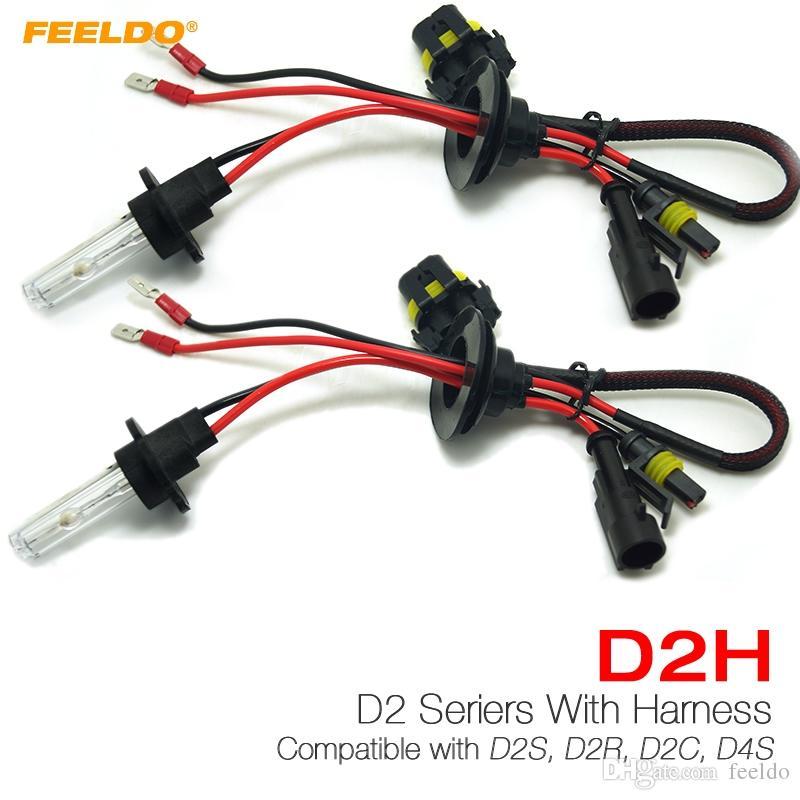Feeldo 1Pair 35W D2H HID XENON ampoules compatible avec D2S / D2R / D2C / D4S pour la modernisation # 4489