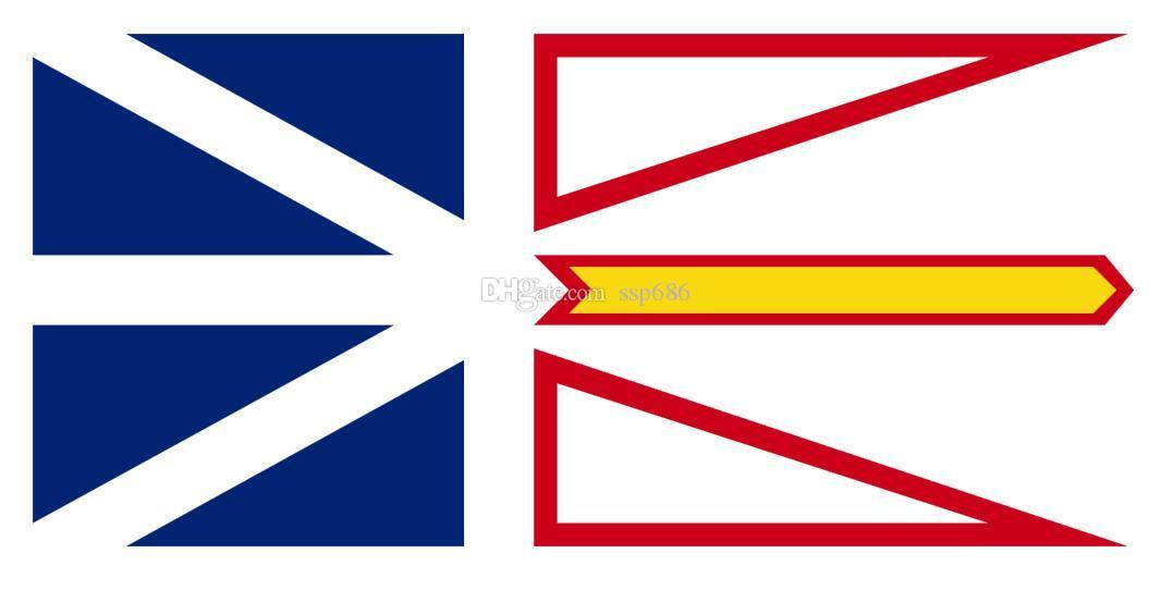 Flaga Kanady Nowa Fundlandia i Labrador 3FT X 5FT Poliester Banner Latający 150 * 90 cm Niestandardowa flaga na zewnątrz