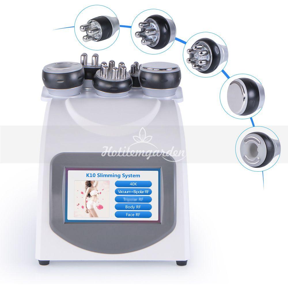 5 В 1 RF радиочастотная Уход за кожей Вакуумная Потеря веса Ультразвуковая липосакция 40K кавитация для похудения машина
