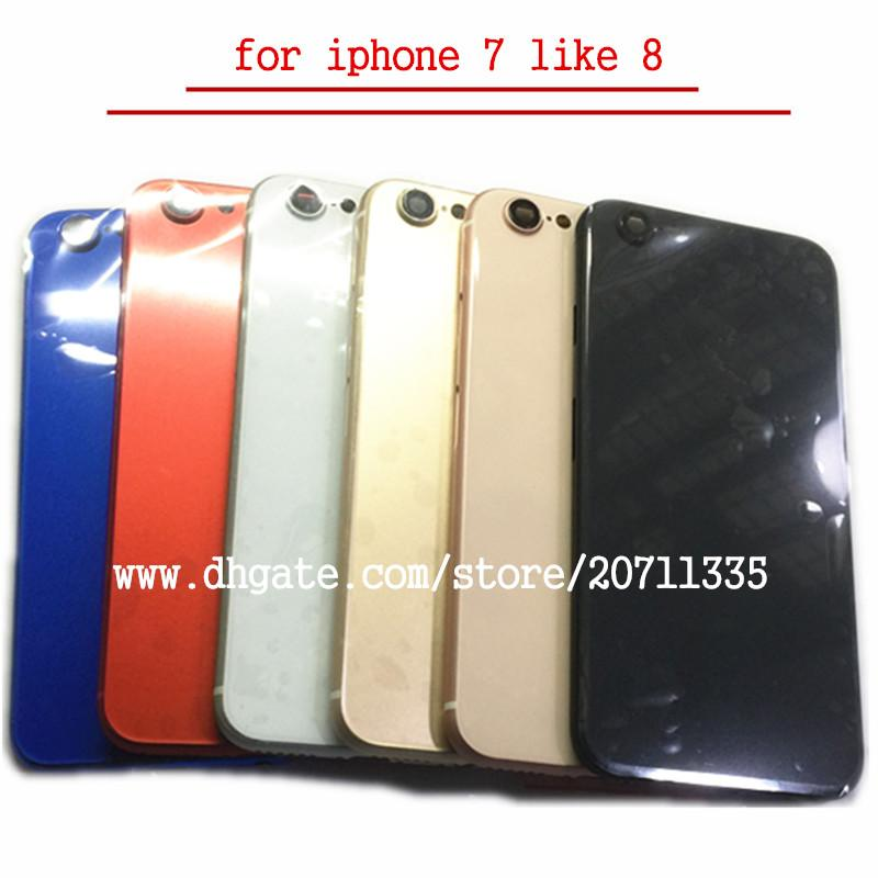 Una calidad para iPhone 7 Like 8 Style 8 Tapa trasera Carcasa de la batería Chasis de la puerta Chasis intermedio Marco