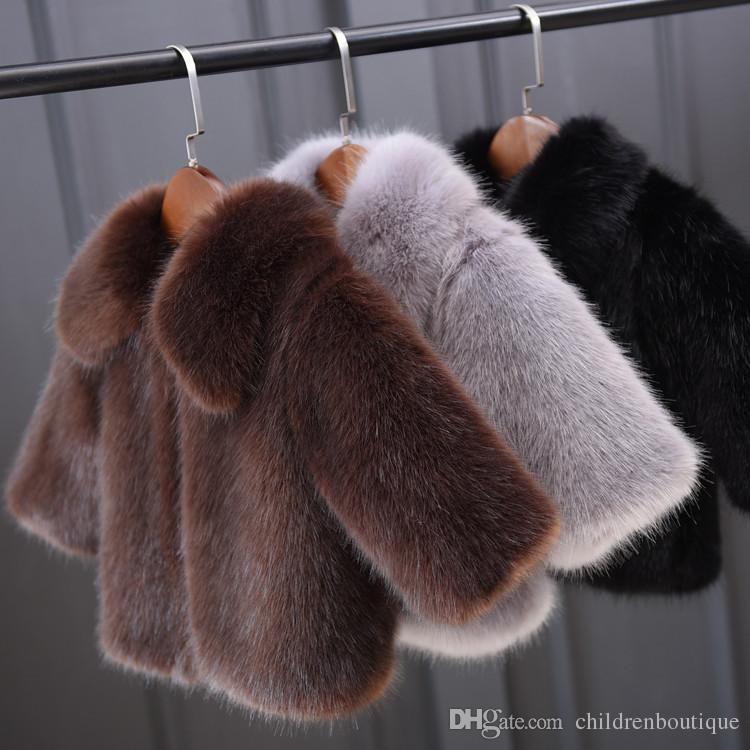 Baby Kinder Kleidung Neueste Heißer Verkauf Winter Baby Jungen Girs Mantel Kinder Warme Faux Pelz Hoodie Mantel Jacken Neugeborenen Kleinkind Winter Oberbekleidung