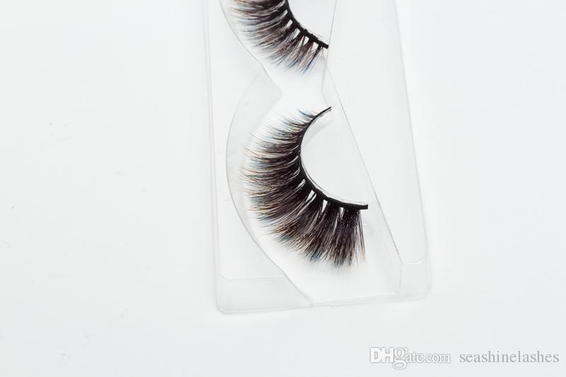 2018 Seashine Naturalne 3D Real Norek Rzęsy Pełna Strip Handmade Fake Eye Lash Przedłużanie Grube fałszywe rzęsy Primium Quality