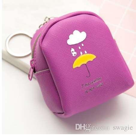 ключевой держатель кожа Женщины Девушки милые Моды закуски ключевые кошельки изменение сумка аниме дизайн порта
