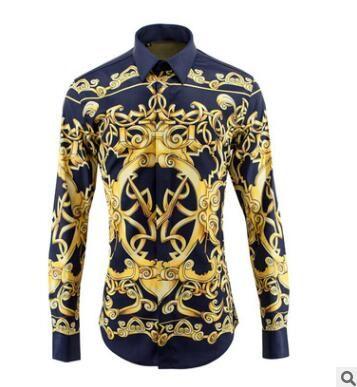 봄 여름 남성 셔츠 무대 바람 아방가르드 - 긴 - 비 - 철 디지털 3D 입체 인쇄 모델 미스터 셔츠 코트 높은 품질