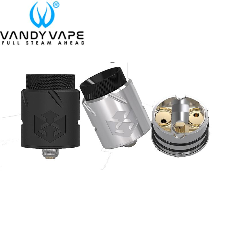 Autêntico Vandy Vape Paradox RDA 24mm Rebuildable Dripping Atomizador Novo Sistema de Fluxo de Ar Anular com Top Dome Forma Bell