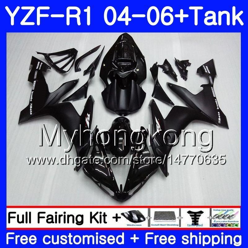 Corps + réservoir pour Yamaha YZF R 1 YZF-1000 YZF 1000 YZFR1 04 05 06 232HM.0 YZF1000 YZF-R1 04 06 YZF R1 2004 2005 2006 Factory Caréchage Gloss Black