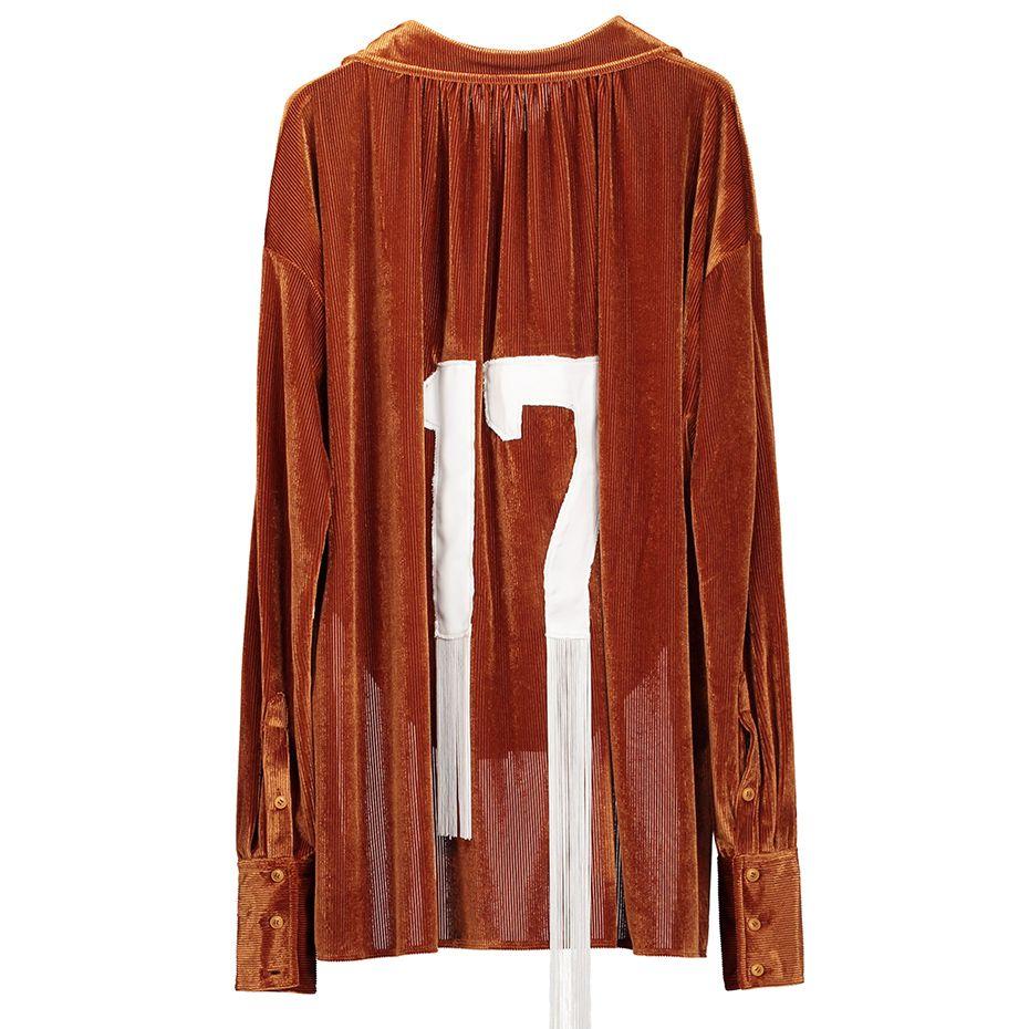 Camisa de manga larga Clocolor Moda mujer Streetwear Alto Bajo Casual Terciopelo suelto Otoño Invierno Mujer Top Blusa elegante