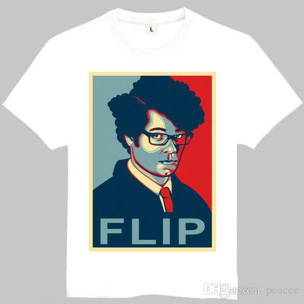 shirt de Flip t Il foule courte robe manches mousse tees de travail Fun Loisirs vêtements tissu de coton de qualité T-shirt