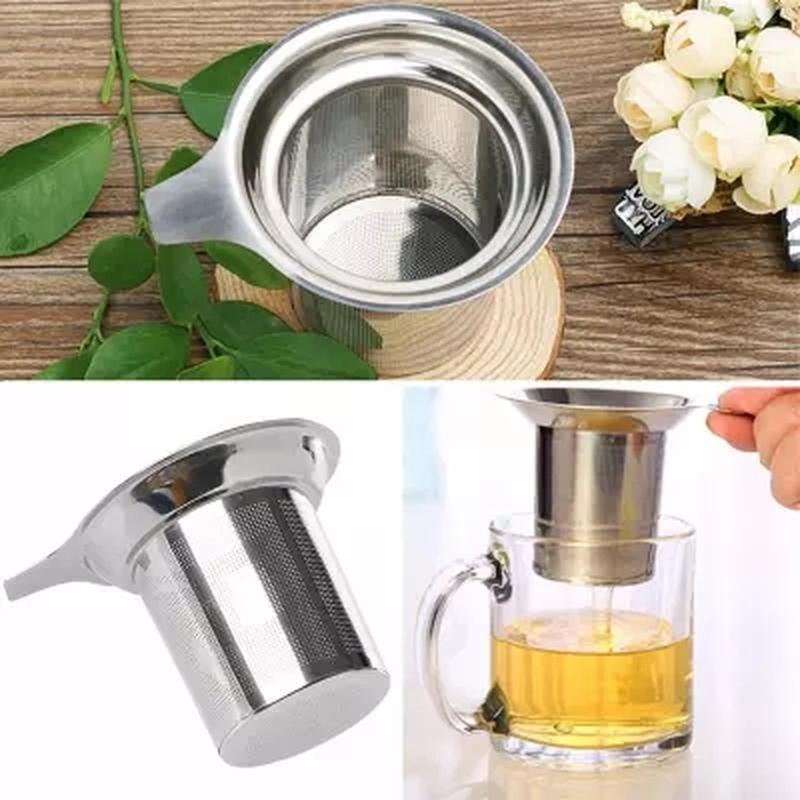 vendite calde in acciaio inox Mesh del tè Infuser riutilizzabile setaccio allentato Tea Leaf Spice Filter-F1FB