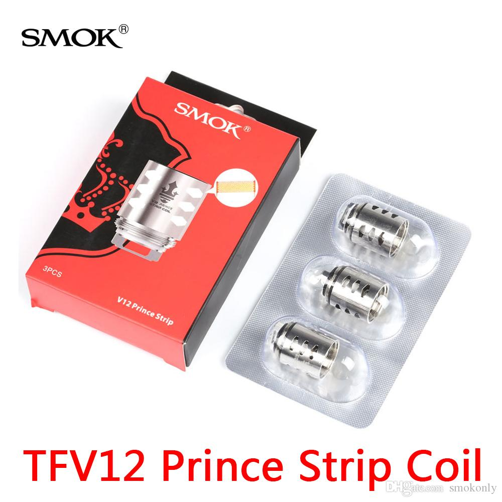 100% authentiques têtes de noyau de remplacement de bobine de bande de prince de SMOK TFV12 0.15ohm pour la cigarette électronique de réservoir de l'atomiseur TF V12 Prince 3pcs / pack