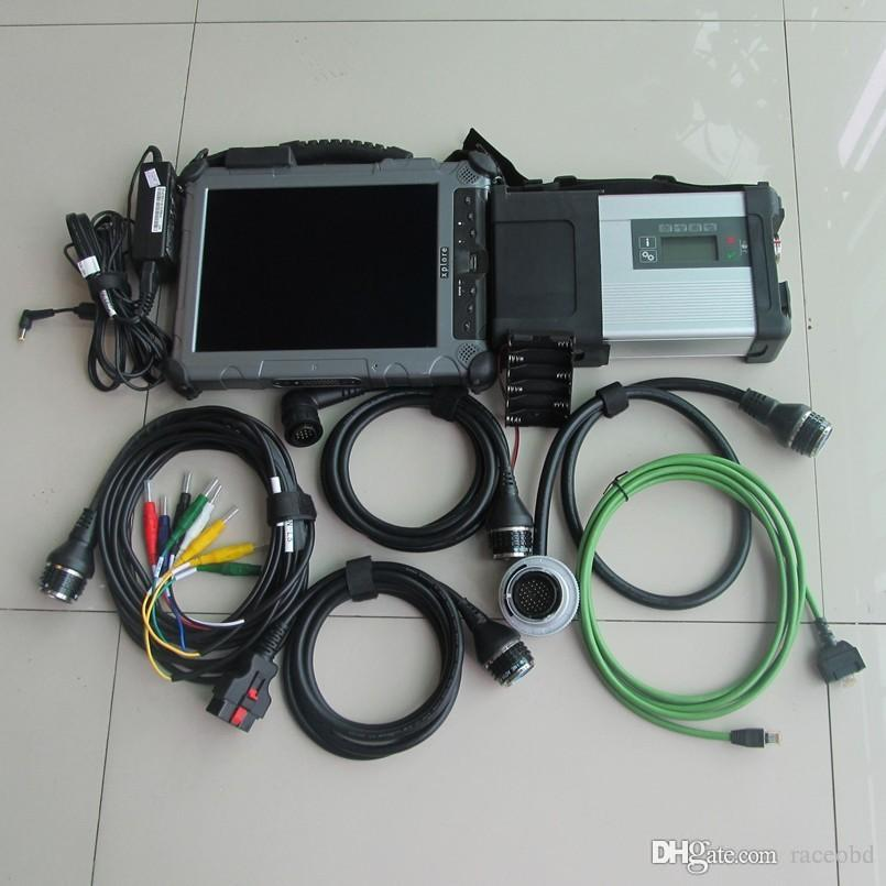 mb star sd connect compact c5 with ssd with ix104 i7 4g Industrial Rugged Tablet diagnostic laptop