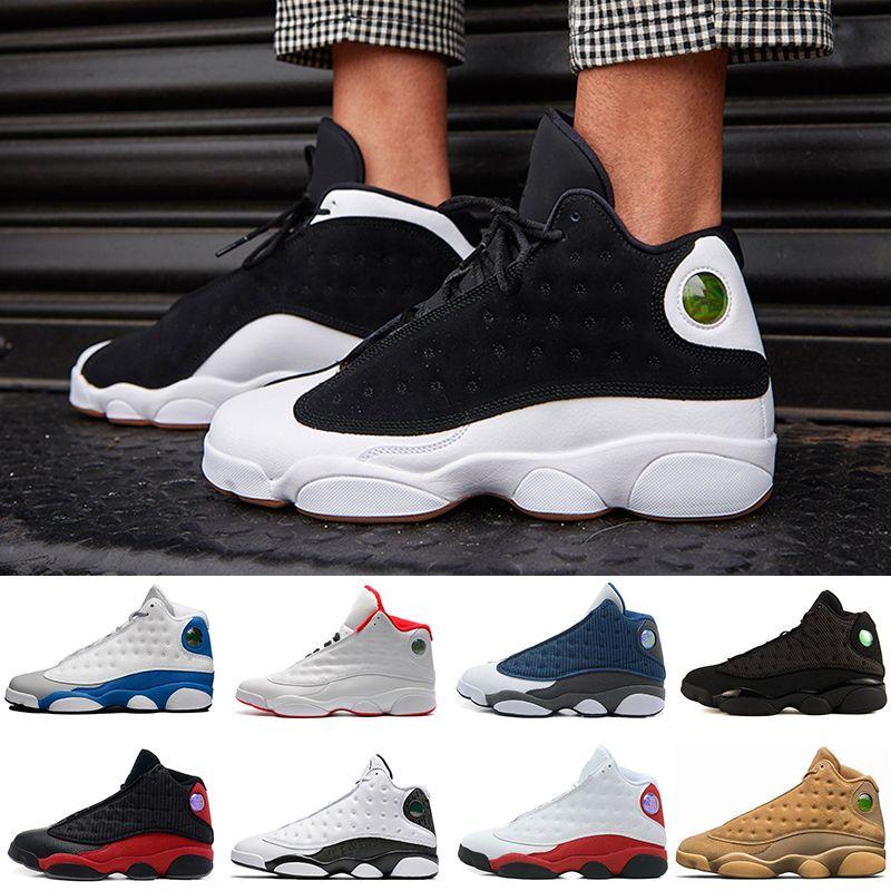 Barato 2018 de Alta qualidade sapatos 13 XIII 13 s Homens Tênis De Basquete Mulheres Bred Preto Marrom Branco holograma Barões flints Cinza Esportes Sneakers