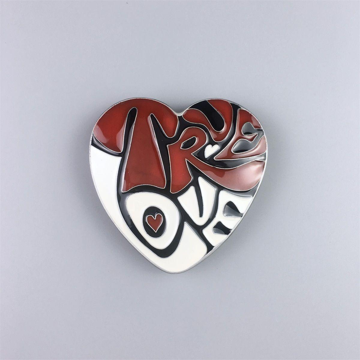 Nuevo Original True Love Heart Esmalte Belt Buckle Gurtelschnalle Boucle de ceinture