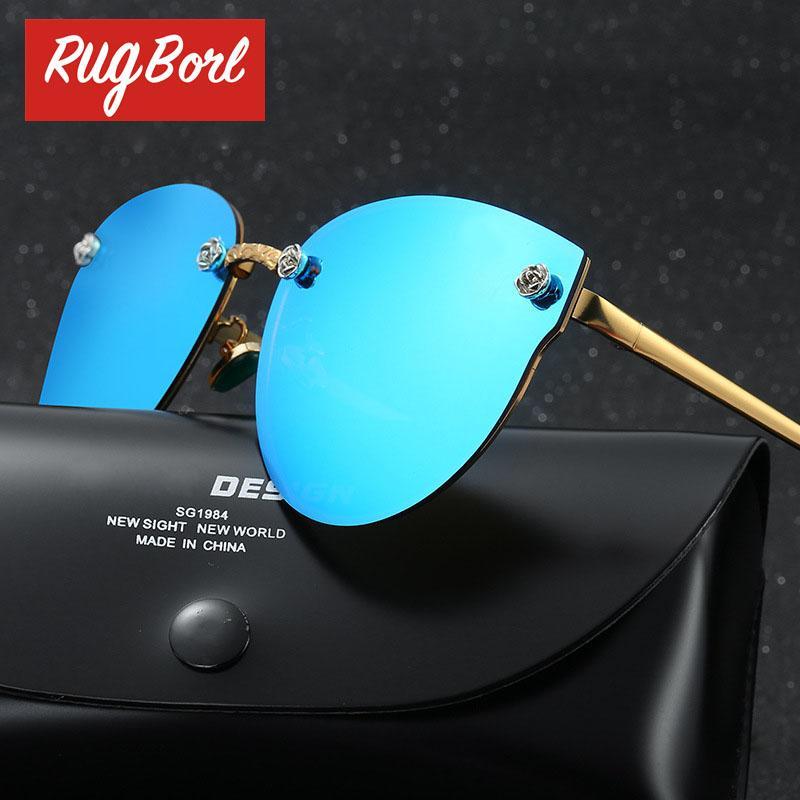 Rose Gold Vidrio Aviador Mens óculos polarizados Mulheres Driving UVA Polaroid Sunglass Espelho 2017