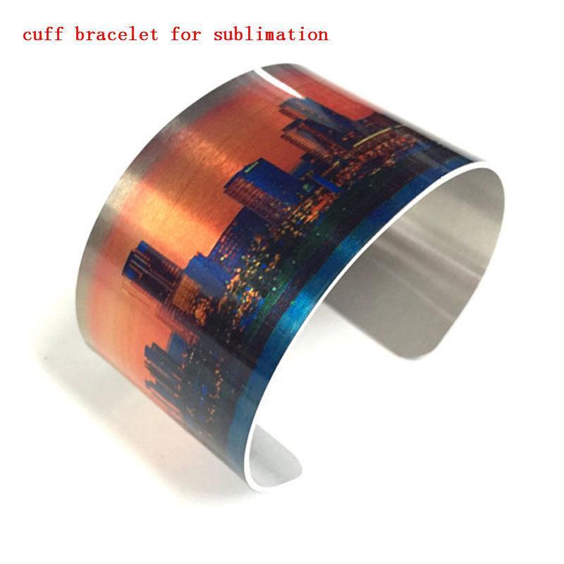 leere Manschette Armband für Sublimation Aluminium Armreifen für Frauen anpassbare Schmuck Geschenk für Freunde können Foto Großhandel drucken