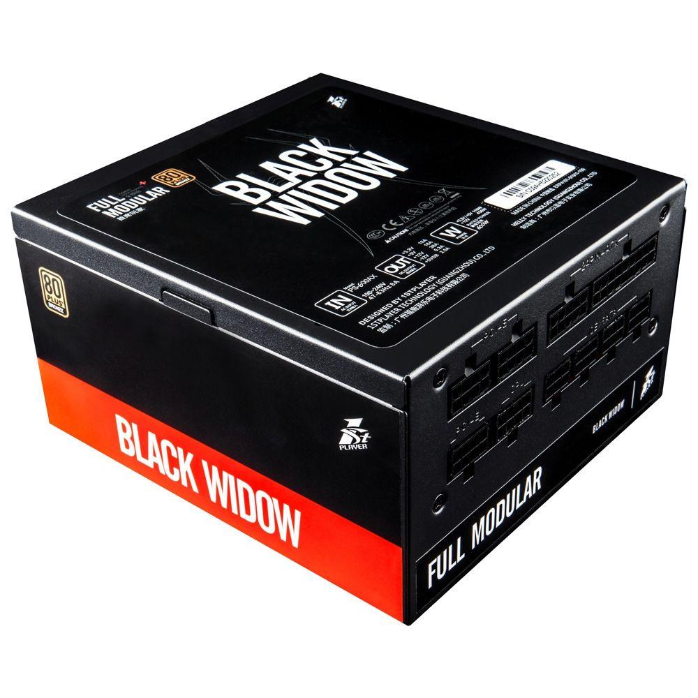 1STPLAYER Black Widow 600W Power Supply Full Range Input Full Modular 80PLUS Bronze Dual CPU control