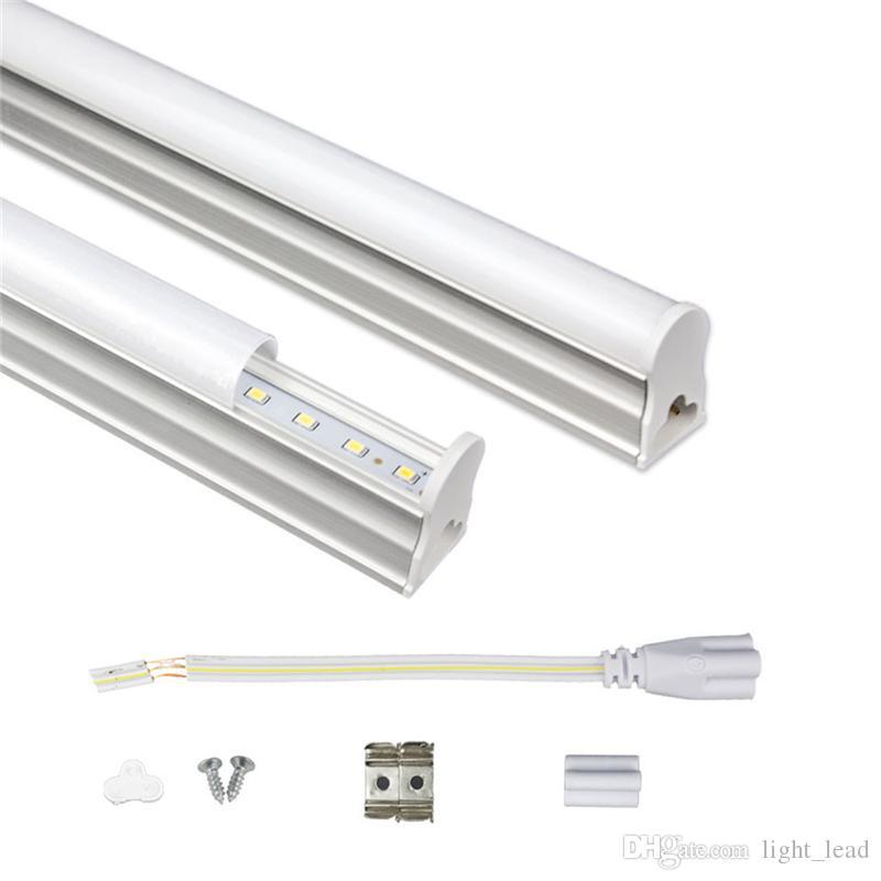 قاد T5 LED أنبوب المتكاملة 1FT 2FT 3FT 4FT 175-265V LED أنابيب الفلورسنت SMD2835 6W 10W 14W 18W أضواء