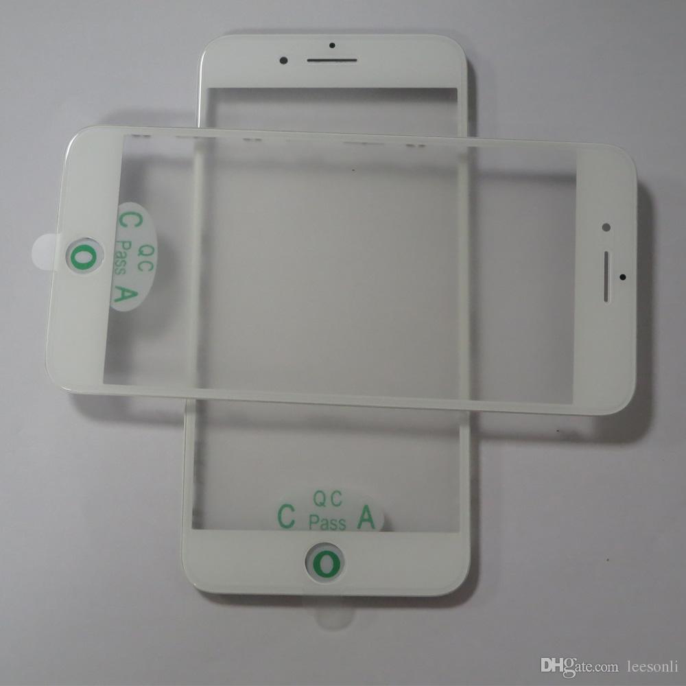 50pcs original presse à froid LCD avant verre + cadre + assemblage de film OCA pour iPhone 7 7plus de rénovation