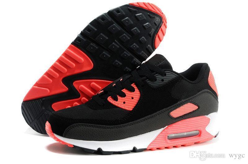 2018 حار بيع الرجال أحذية رياضية كلاسيكي 90 الرجال الاحذية بالجملة قطرة الشحن الرياضية مدرب الهواء وسادة الأحذية الرياضية a01