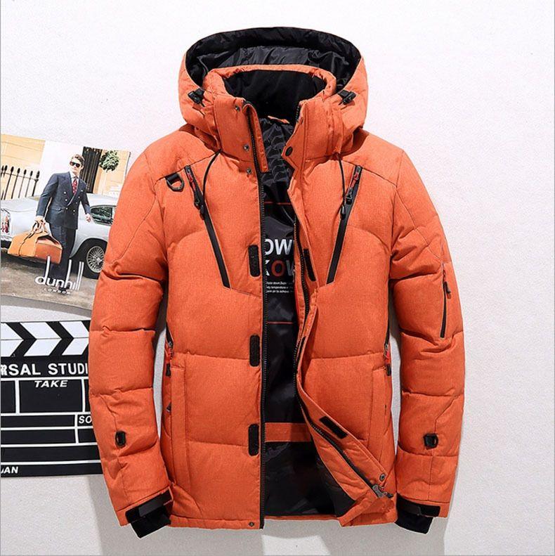 Cappotti bianchi imbottiti con cappuccio anatra bianca imbottita in piuma d'oca Moda uomo cappotti invernali cappotti uomo mantengono caldo inverno cappotti JK-795