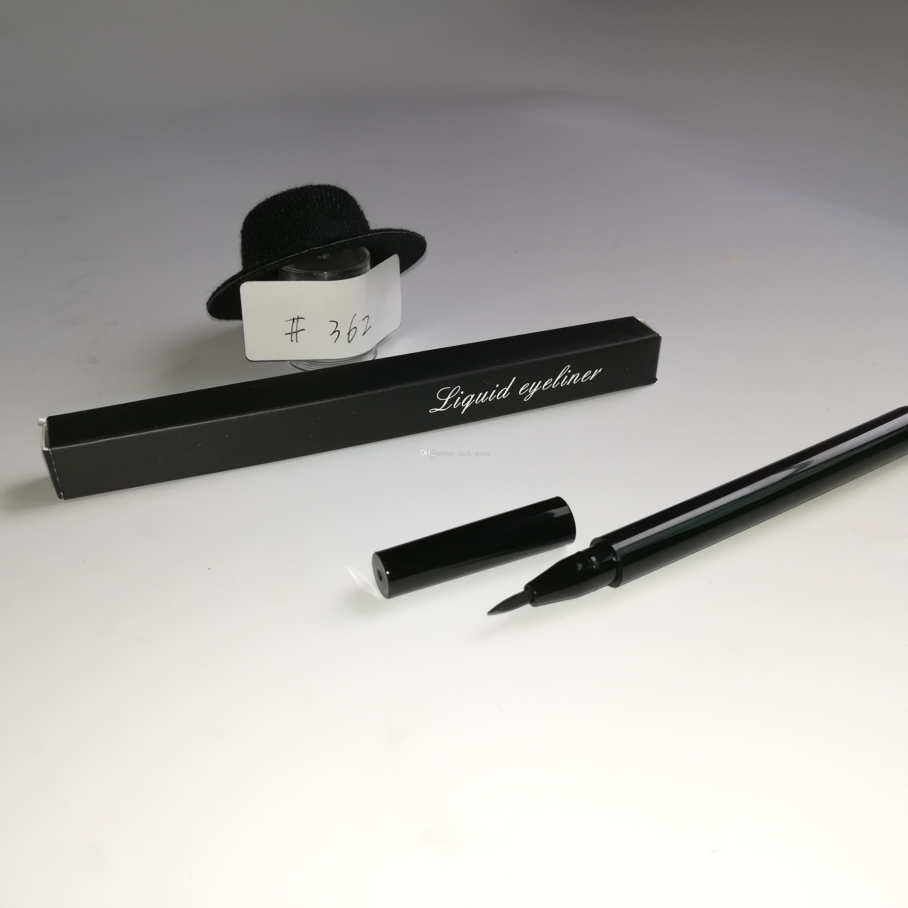 no logo nero liquid eye liner 2.5g make up art cosmetici eye-liner liquido Violet cono-forma tubo con pacchetto accetta personalizzato