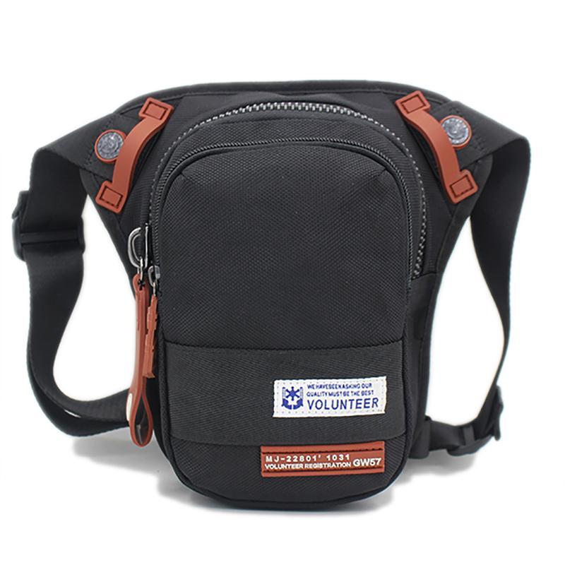 Waterproof Oxford Men Waist Pack Motorcycle Rider Belt Drop Thigh Pouch Travel Shoulder Crossbody Messenger Fanny Leg Bag
