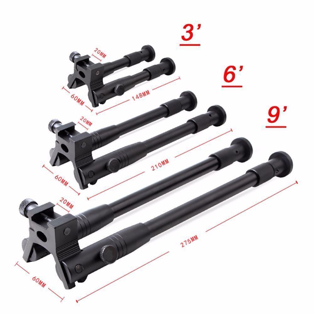 """Supporto per fucili tattici in metallo regolabile Bipod 3 """"6"""" 9 """""""