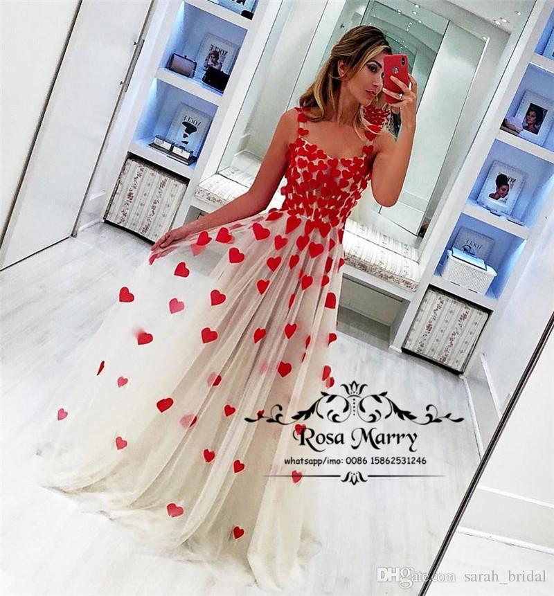 Princess 3D Floral Long Prom Dresses 2020 A Line Illusion Bodice Plus Size Arabic African Design Girls Birthday Formal Evening Party Gowns