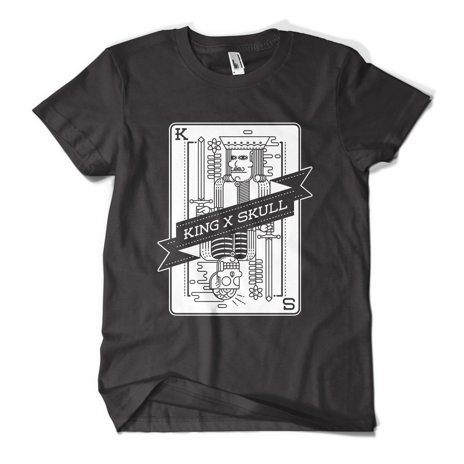 Король череп футболка мода принт инди хипстер городской дизайн мужские девушки майка Topcool повседневная гордость футболка мужчины унисекс новая мода