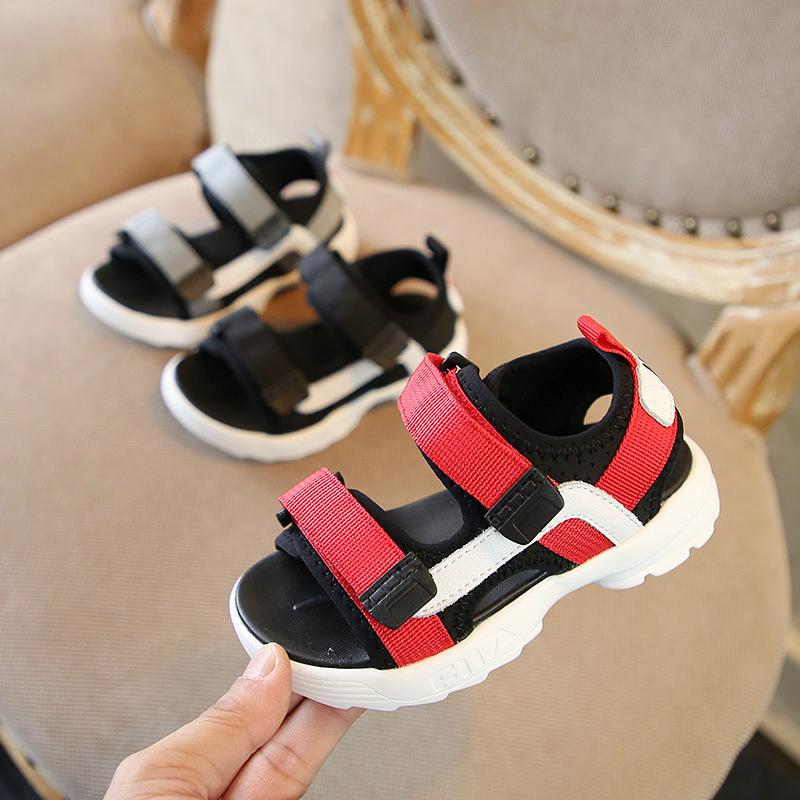 Children's shoes children's sandals Korean fashion ribbon casual shoes 2018 summer new boys and girls sandals