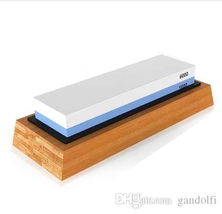 قسط شحذ الحجر 2 الجانب الحصباء 1000/6000 المشحذ | أفضل سكين مطبخ مبراة Waterstone | نونليب بامبو قاعدة آنج