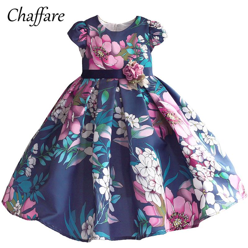 158408fd9441 2018 Chaffare Girls Dress Baby Floral Fancy Frocks 2018 Elegant ...