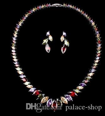 merveilleux ensemble collier de mariée mariage diamant cystal plus couleur dame de Earings (95) fgfd