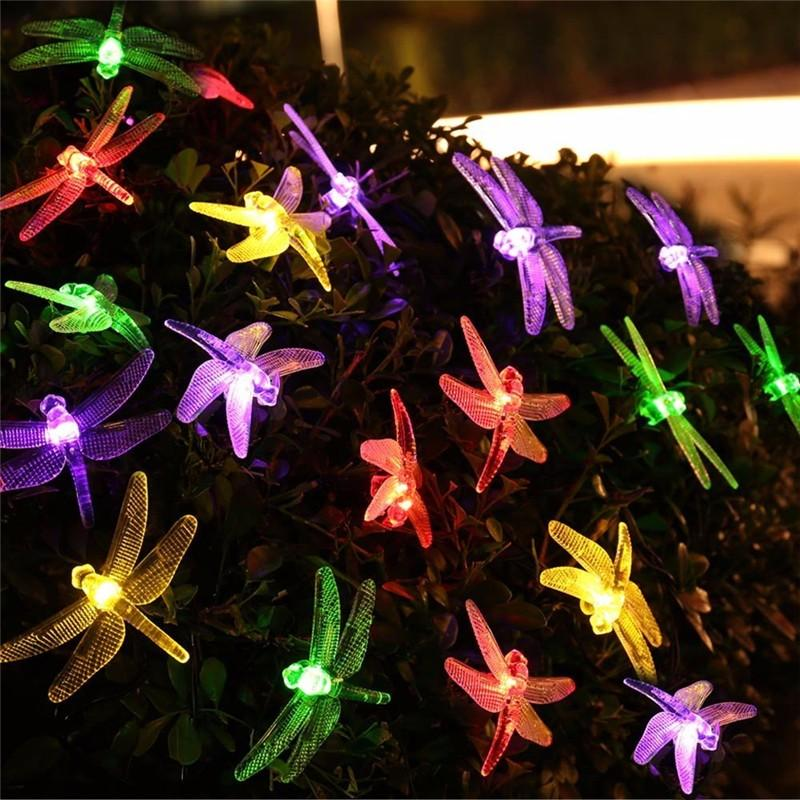 Dragonfly Solar Christmas Lights (13)
