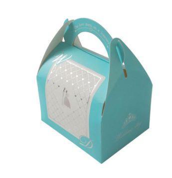 50 unids / lote azul boda caja de dulces romántica de plata novio novia azúcar caja de regalo de boda favores y regalos fuentes del partido