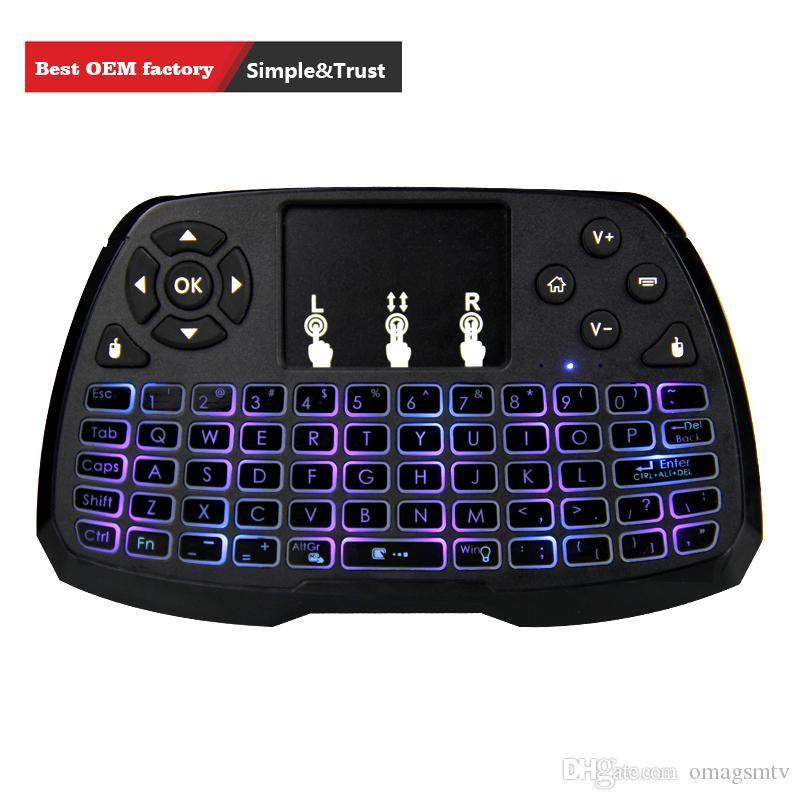 2018 مصغرة a3 لوحة المفاتيح اللاسلكية بلوتوث لوحة اللمس لعبة يطير الهواء الفأر التحكم عن الوسائط المتعددة المحمولة ل T95Z TX2 M9S