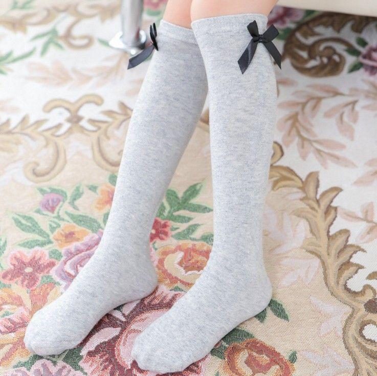 Girls Kids Knee High Socks Stocking Cotton Leg Warm Leggings Loose Socks Good