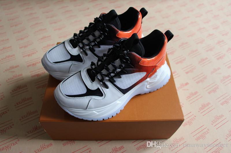 Descuento nuevas altas zapatillas de deporte fuera de control para hombre de cuero real 3 colores de calidad superior de lujo casual diseñador exclusivo zapatos de mujer en venta