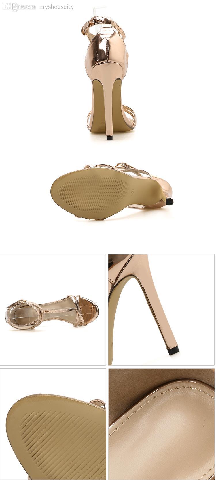 Großhandel Neue Champagner Gold T Riemchen High Heels Schuhe Abschlussball Schuhe Größe 35 Bis 40 Von Myshoescity, $28.88 Auf De.Dhgate.Com | Dhgate