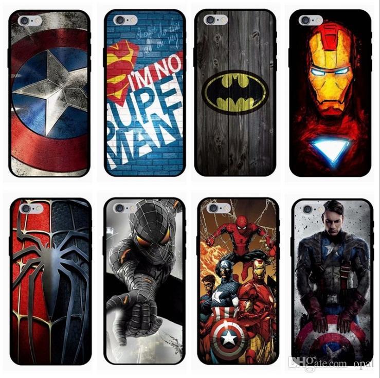 Coque Dur De Téléphone Ironman Marvel Avengers Superhero Designer Pour IPhone X XR XS Max 8 7 6s 6 Plus Spiderman Proposé Par Opal, 1,03 € | ...