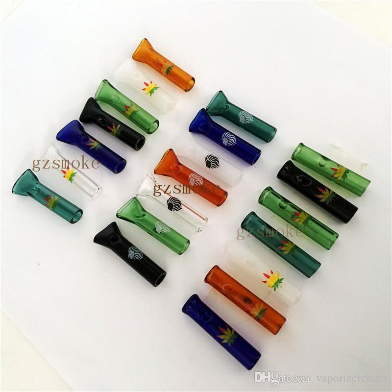 유리 담배 필터 팁 담배 팁 고품질 7 색상 연기 파이프 낮은 가격 금연 액세서리 도구 홀더 액세서리