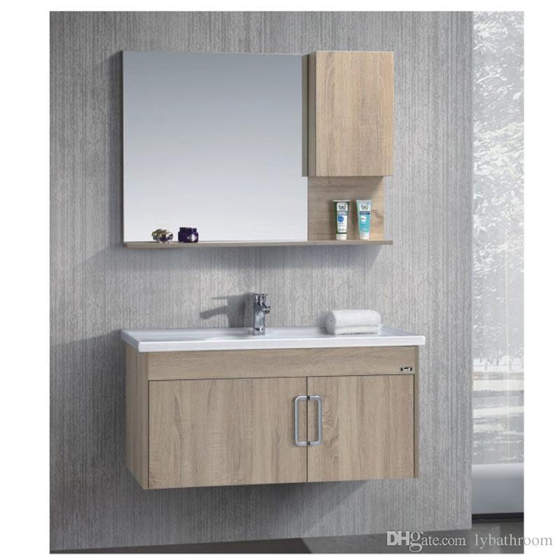 new style 1a2d8 c0537 2019 Bathroom Ceramic Sink Bathroom Cabinet Combination Of Solid Wood Wash  Basin Cabinet European Antique Floor Cabinet From Lybathroom, $992.97 | ...