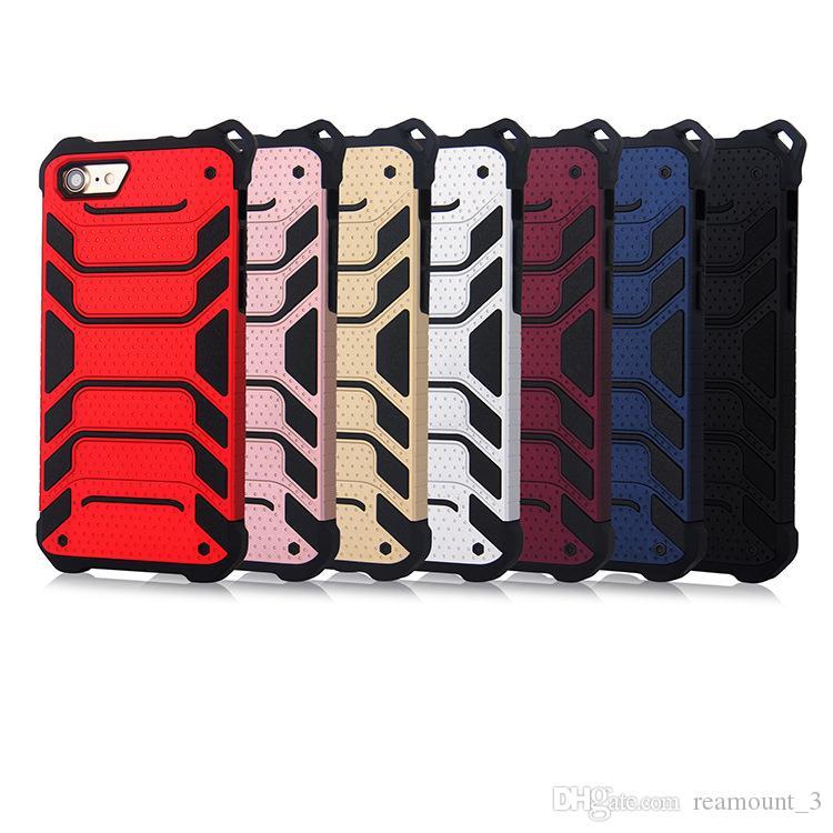 5pcs forte hybride robuste antichoc armure téléphone arrière cas pour iphone x 6 6s plus 8 7 plus dur robuste impact cover