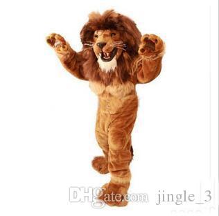 2018 hot sale Lion Mascot Costume Adult Size Animal Selvagem Masculino Rei Leão Partido Do Carnaval Cosply Kit Mascotte Terno EMS NAVIO LIVRE