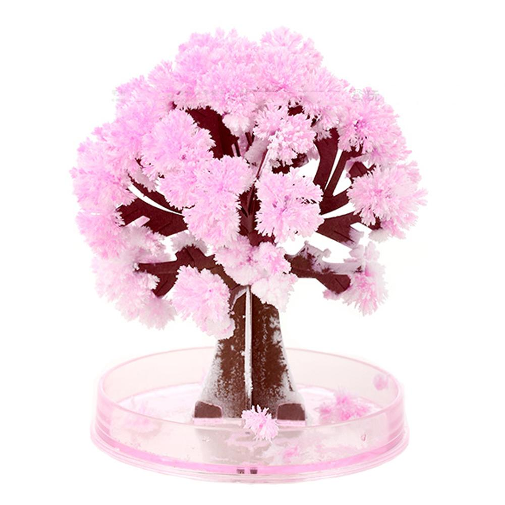 17.5*22.5cm Visual Magic Artificial Sakura Trees Decorative Growing DIY Paper Tree Gift Novelty Baby Toy Flower Tree Exploring 3D Puzzles