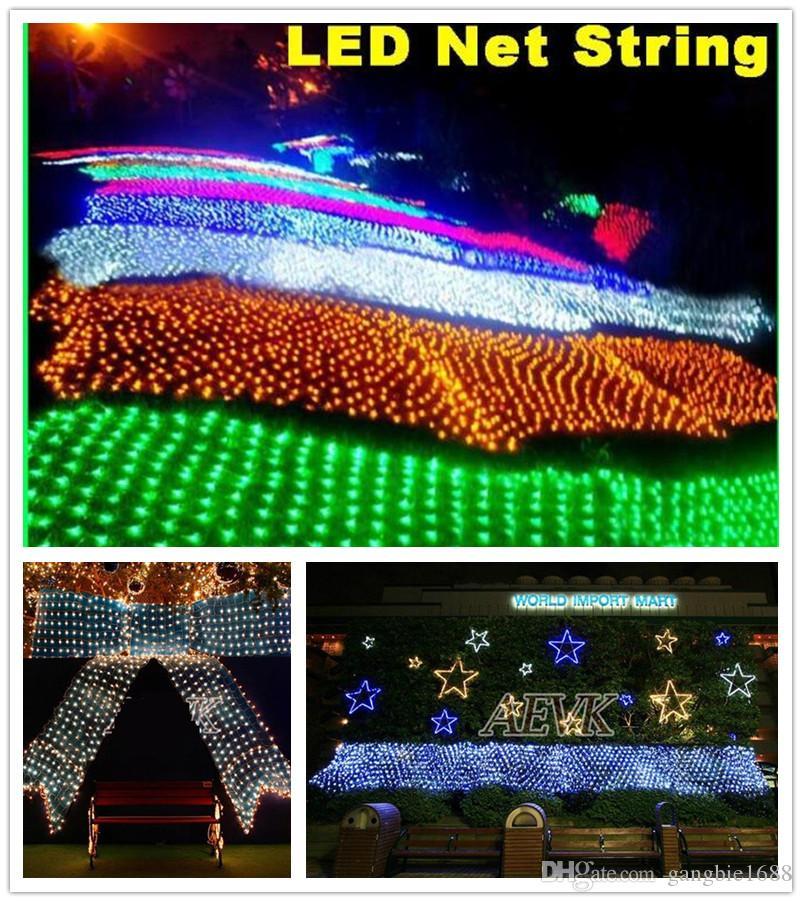 أضواء led صافي سلسلة عيد الميلاد ماء صافي شبكة الجنية ضوء 2 متر * 3 متر 4 متر * 6 متر حفل زفاف ضوء المنزل الديكور احتفالي عيد