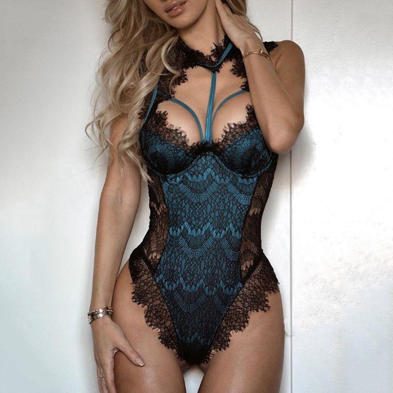 Womens Sexy Lingerie porno Bodysuit Elegant Lace body sexy hot erotic Catsuit pole dance Underwear Nightwear lenceria femenina free shipping