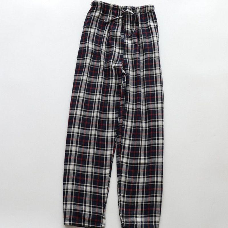 Pantaloni lunghi Uomo Primavera Estate 100% cotone Garza Pantaloni larghi del pigiama Pantaloni a doppio strato di garza lounge Pantaloni da notte Donna Vendita calda
