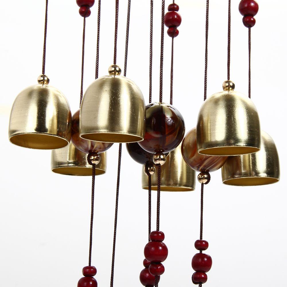 80cm Outdoor Living Windspiele Hof Garten Windspiel Windspiel Garten Feng Shui Home Shop Dekor Röhren Glocken Kupfer 13 Glocken